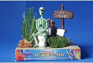 Aquarium Decor Skeleton on Toilet Fish Tank Aquarium Decoration Ornament W07