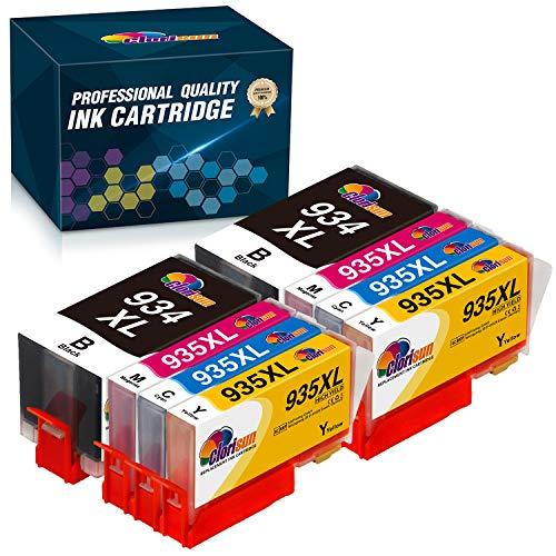 Clorisun Cartuchos de tinta de repuesto para HP 934XL 935 XL HP Officejet Pro 6230 6830 6815 6812 6835 6820 (2 negro, 2 cian, 2 magenta y 2 amarillos)