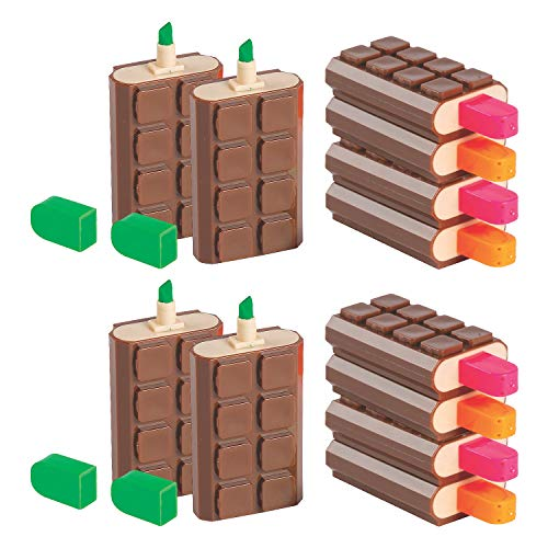 Fun Express Scented Chocolate Bar Highlighters   School Supplies, Back to School Gifts, Party Favors