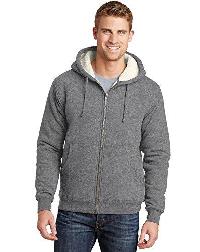 Jaqueta de lã com capuz Cornerstone (CS625), Cinza, XL