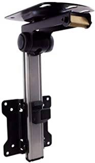 Monoprice Under Cabinet Tilt TV Wall Mount Bracket - for TVs Up to 27in Max Weight 44lbs VESA Patterns Up to 100x100