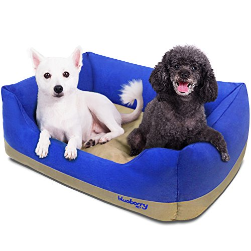 Blueberry Overstuffed Lounge Dog Bed