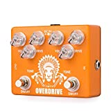 Caline Effects Pedal Dual Overdrive Distortion Guitar Pedal Metal True Bypass Orange High Chief CP-70