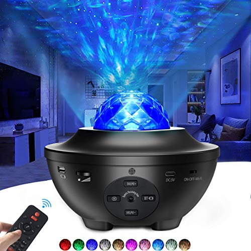 Galaxy Projector 3 in 1 Smart Star Projector Sky Lite with Alexa,Google Assistant for Baby Kids Bedroom/Game Rooms/Home Theatre/Night Light Ambiance with Bluetooth Music Speaker