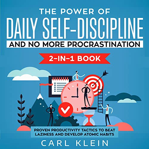 The Power of Daily Self-Discipline and No More Procrastination 2-in-1 Book cover art