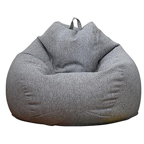 GAOYH - Sacco a sacco per sedia per adulti, sacco a sacco di lino (nessun riempimento), pouf per sedia a sacco sacco sacco sacco sacco sacco sacco sacco sacco sacco sacco sacco sacco di biancheria da letto Tatami Puff Relax Lounge mobili