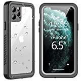 SPIDERCASE for iPhone 11 Pro Max Waterproof Case, Built-in Screen Protector Full Body Heavy Protection Shockproof Anti-Scratched Rugged Underwater Cases for iPhone 11 Pro Max 6.5 inch 2019