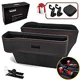 Inovare Designs Car Seat Pockets PU Leather Car Console Side Organizer Seat Gap Filler Catch Caddy 2 Pack