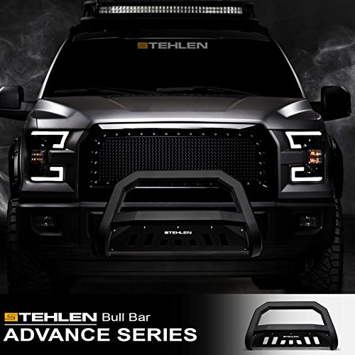 Stehlen 642167821748 Mesh Front Hood Bumper Grille 2000-2004 Excursion Black For 1999-2004 Ford F250 F350 F450 F550 Superduty