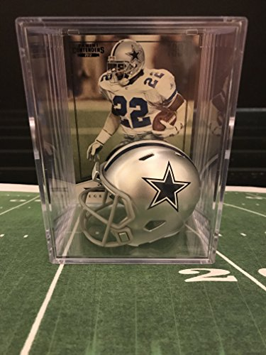 Dallas Cowboys NFL Helmet Shadowbox w/ Emmitt Smith card