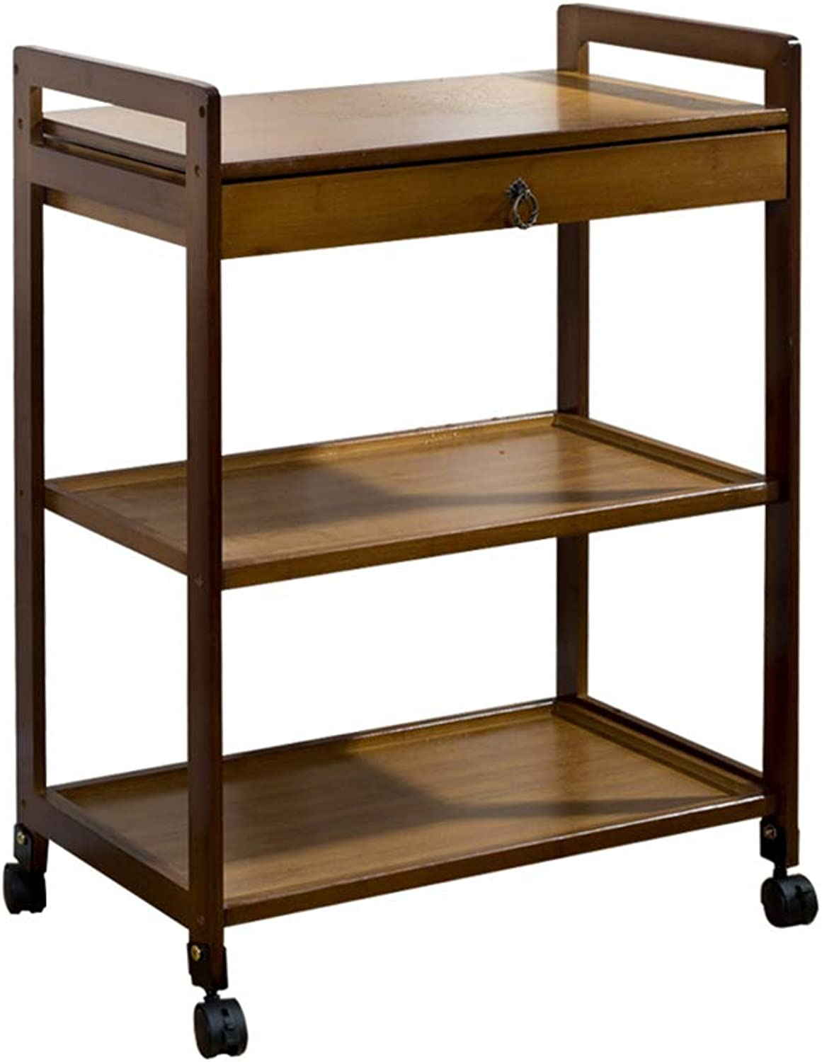 Coffee Tables Tea Cart Removable Sofa Small Coffee Table Tea Rack Living Room Side Cabinet Locker Small Tea Table Furniture Tables (color   Brown, Size   59  33  80cm)
