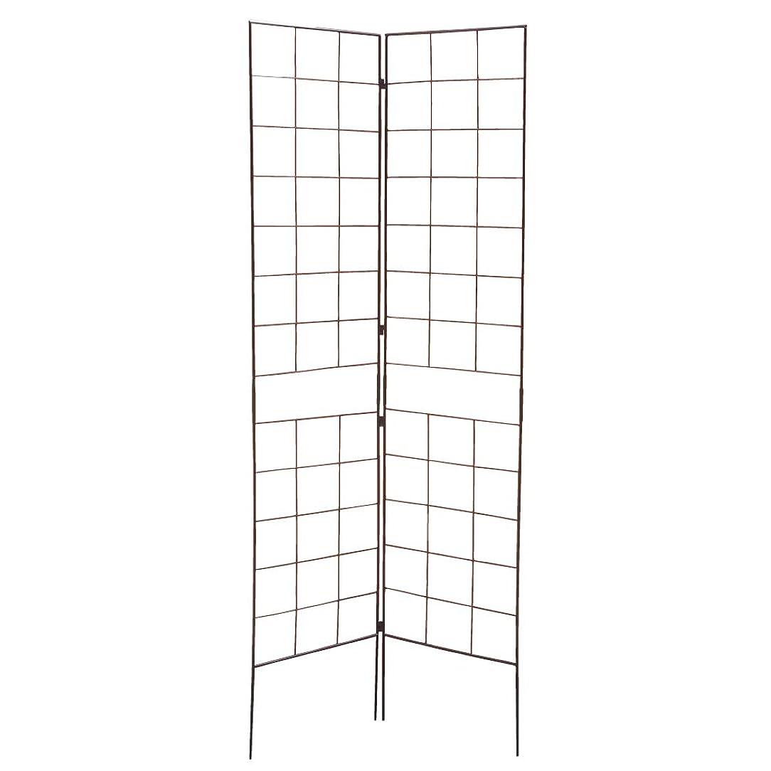 のスコアおいしいディベート鉄製ワンタッチフェンス?N 黒 3枚 組立式 2つ折フェンス 角度調節可能 ブラック 鉄製 アイアン ガーデンフェンス