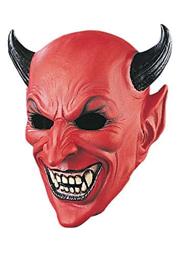 Deluxe Devil Mask Standard Red