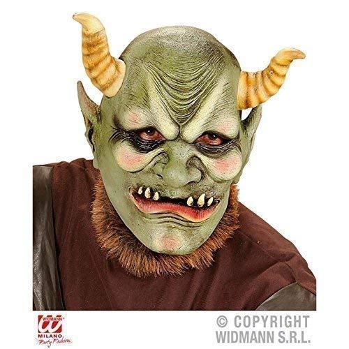 Lively Moments Latexmaske Evil ORC / Ork Maske Fantasy / Halloweenmaske / Fasching / Halloweenkostüm Zubehör