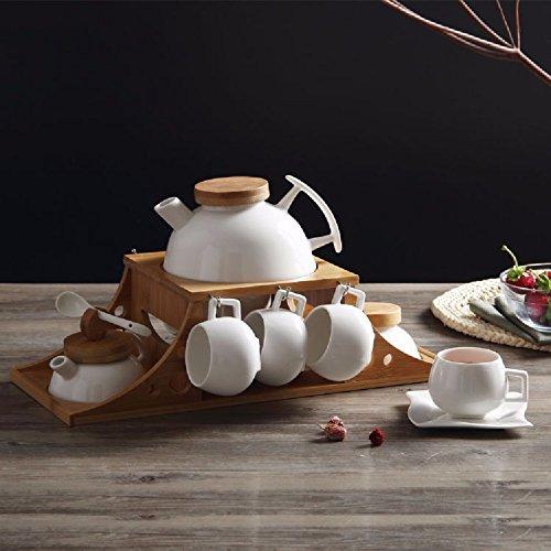 HQLCX europ?ischen Stil Kaffee, einfach kreativ mit wei?em Porzellan Keramik - Tasse Kaffee, nachmittags teekanne setzen