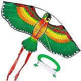 rongweiwang Dibujos Animados de Animales Cometas Fibra de Vidrio Aptos para niños Juguetes voladores de Animales Cometa Cometas Niños Actividades al Aire Libre Juguetes, Verde
