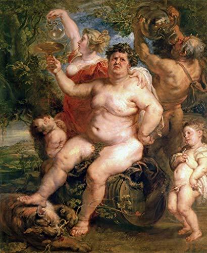 "Kunst für Alle Impresión artística/Póster: Peter Paul Rubens Bacchus 1636-40"" - Impresión, Foto, póster artístico, 75x90 cm"