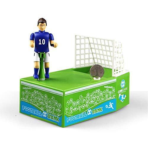 Meybabks Hucha Cajero Automático Electrónico Regalo Creativo De Dibujos Animados Futbolista Hucha Hechizo Insertar Fútbol Moneda Hucha Eléctrico Lindo Moneda Tarro
