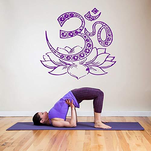 hetingyue Yoga Lotus afneembare vinyl muur kunststicker applique slaapkamer woonkamer