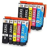 Starink - Cartuchos de tinta compatibles con Epson 33 33XL para Epson Expression Premium XP-7100 XP-530 XP-540 XP-630 XP-635 XP-640 XP-645 XP-830 XP-900 2 negros, 2 cian, 2 magenta y 2 amarillos
