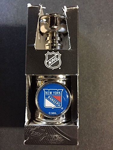 "New York Rangers Mini Stanley Cup 1994 Nhl Holo New Mark Messier Henrik Lundqvist 4"" in box"