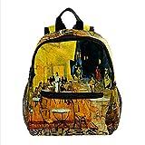 Mini mochila para computadora portátil para mujer, bolsa de viaje Terraza de la cafetería para el trabajo, escuela, al aire libre