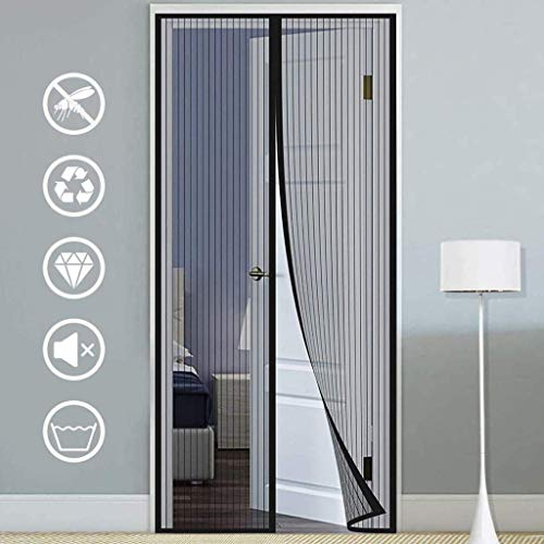 Anti Mouche Rideau de Porte Hot Summer Anti Mosquito Insect Fly Fly Bug Rideaux Magnetic Net Mesh Automatic Closing Door Screen Kitchen Curtain 80 x 210cm blanc