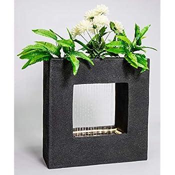 Köhko® Wasservorhang Brunnen bepflanzbar mit LED Beleuchtung