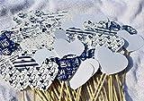 Herzstecker/Steckherzenalierh/Spalier/Sperzen Hochzeit Geburtstag Mickey M blue Kollektion 50 Stück # 21