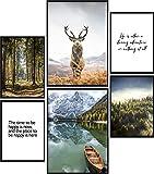Calias® Premium Poster Set Natur | Bilder Set für