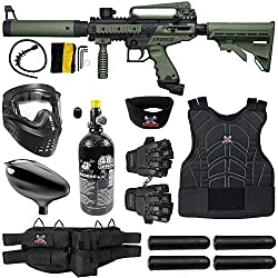 professional Mad Dog Tipman Chrona Stactical Starter HPA Paintball Gun Package – Black / Olive