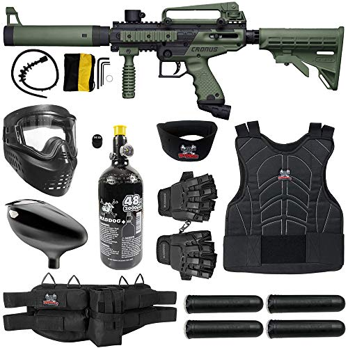 Maddog Tippmann Cronus Tactical Protective HPA Paintball Gun Marker Starter Package - Black/Olive
