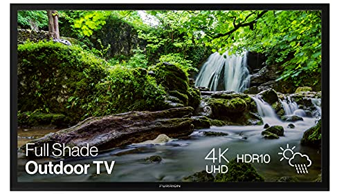 Furrion Aurora 49-inch Full Shade Outdoor TV (2021 Model)- Weatherproof, 4K UHD HDR LED Outdoor Television with Auto-Brightness Control - FDUF49CBS