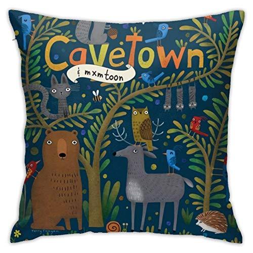 MZZhuBao Cavetown - Fundas de cojín para sofá, cama, decoración del hogar (45 x 45 cm)