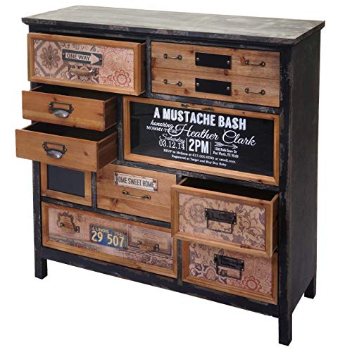 Mendler Apotheker-Schrank HWC-A43, Kommode, Tanne Holz massiv Vintage Shabby-Look 90x90x32cm