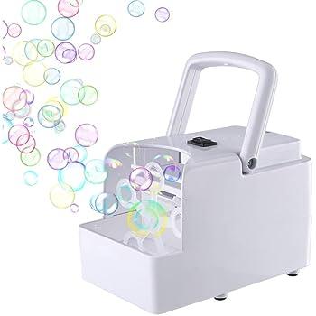 Haibei バブルマシーン 子供バブルマシーン シャボン玉 製造機 舞台効果 電動式シャボン わずか534g 軽量で小型 持ち運び便利 アウトドア 誕生日 結婚式など適用 日本語説明書 一年安心保証