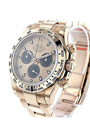 Rolex Daytona 40 Pink and black Dial 18k Rose Gold Mens Watch 116505