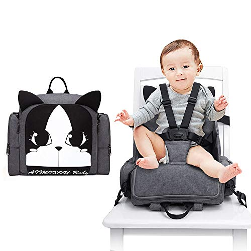 Hoomall Travel Booster Seat, 3 in 1 Diaper Bag Backpack Multifunction Toddler...
