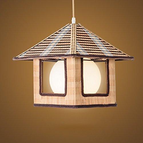 Lampadari Bamboo Chandelier Creative Rattan Ceiling Lamp Ristorante Corridor Aisle Bar Garden Lampadari (Dimensione : L-41 * 35CM)