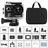 bedee Action Kamera, 4k WiFi Sports Actioncam Ultra HD Unterwasserkamera 16MP Helmkamera Built-in...