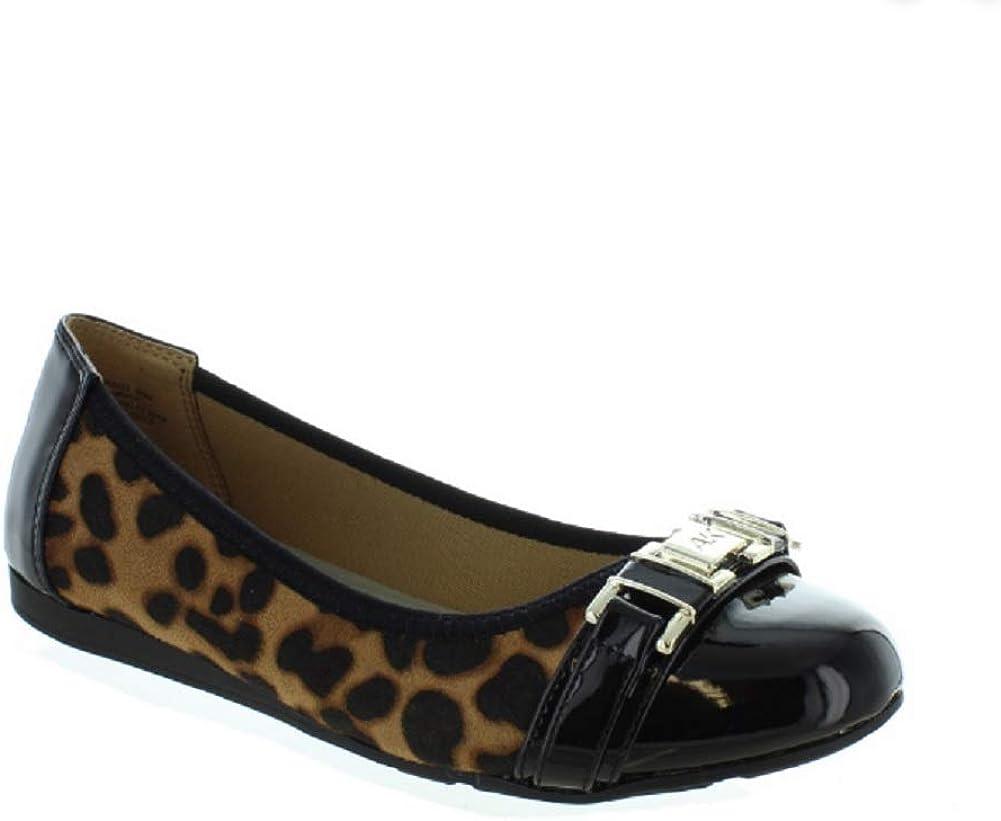 Anne Klein Women's Flats Size Great interest Leopard Fresno Mall Azul -