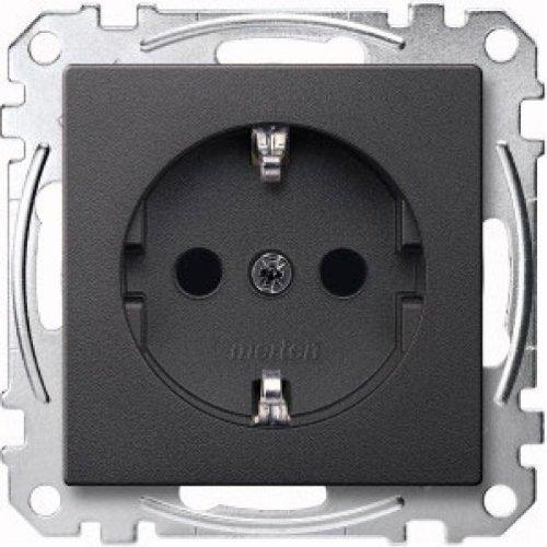 Merten MEG2300-0414 SCHUKO-stopcontact, verhoogde contactbescherming, stekkerklemmen, antraciet, systeem M 5 Steckdosen antraciet