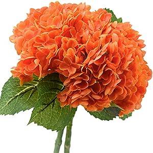 FiveSeasonStuff Real Touch Silk Hydrangea Flowers, 2 Large Long Stem Artificial Flowers for Floral Arrangements