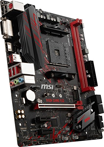 MSI Performance Gaming AMD Ryzen 1st and 2nd Gen AM4 M.2 USB 3 DDR4 DVI HDMI Micro-ATX Motherboard (B450M Gaming Plus), mATX Nevada