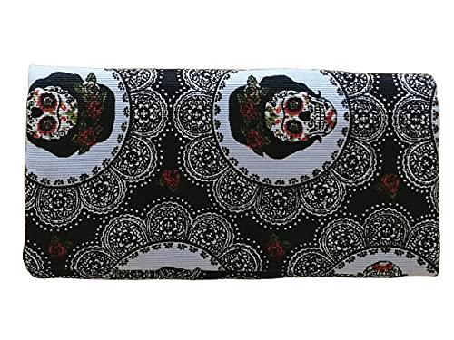 Plan B, Portasigarette Tabacco Trinciato, Yolo Doña Rosita, 16 x 8,5 cm, 50 gr, con Borsa in Gomma EVA, Stampa con Teschi Nero e Bianco
