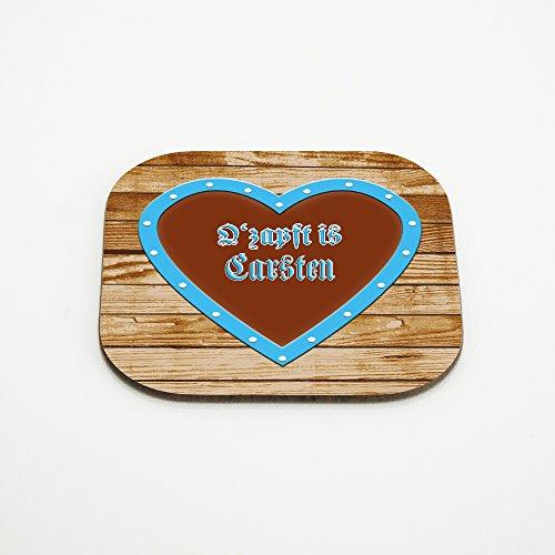 Untersetzer mit Namen Carsten und schönem O´zapft is-Motiv