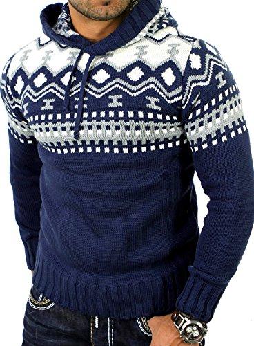 Reslad Norsk tröja herrar vintertröja hoodie | stickad tröja för män RS-3013