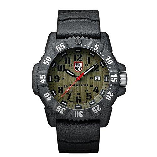 Luminox Carbon SEAL XS.3813 Reloj de pulsera Cuarzo Hombre correa de Caucho Gris