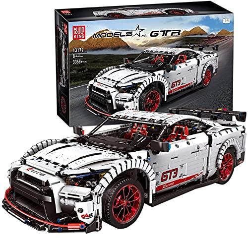 Technic Building Blocks Coche Deportivo Para Nissan GTR, 3358 Piezas Racing Car Model Kit, Terminal Juego De Construcción Coche Compatible Con Lego Static,59 * 24 * 14cm