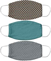 Zotikfit Cotton Unisex Checkered Anti-Pollution Face Mask (Pack of 3) (Mulicolor, Free Size)